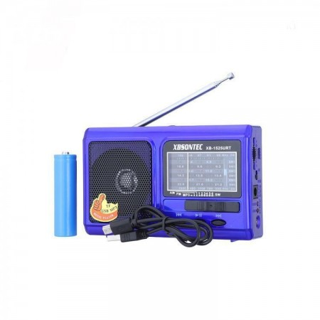 XB-1525URT Radio with colored box FM/AM/SW1-6/USB/TF/MP3 оптом