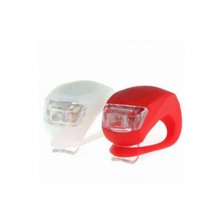 Фара передняя/задняя HJ-008-2, красный, белый оптом