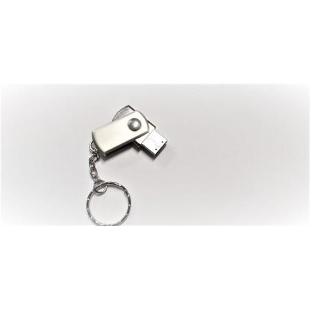 Флешка брелок USB 2.0 B+plus Flash 4 GB серебристая оптом