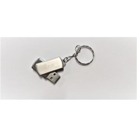 Флешка брелок USB 3.0 B+plus Flash 16 GB серебри оптом
