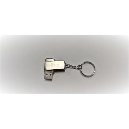 Флешка брелок USB 3.0 B+plus Flash 32 GB серебристая оптом