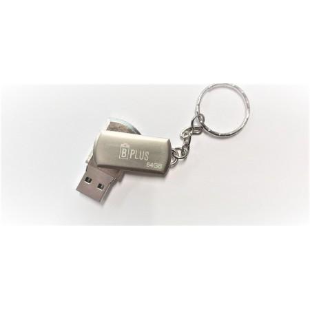Флешка брелок USB 3.0 B+plus Flash 64 GB серебристая оптом