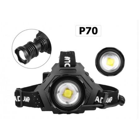 Налобный фонарь аккумуляторный X-Balog BL-T70-P70 оптом