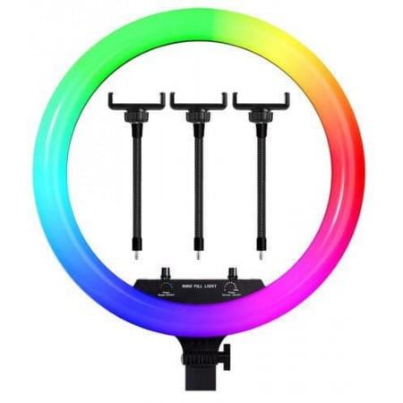 Кольцевая светодиодная лампа 36 см RGB со штативом на 210 см