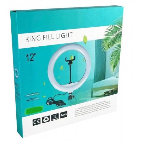 Кольцевая лампа 30 см со штативом 210 см с держателем для